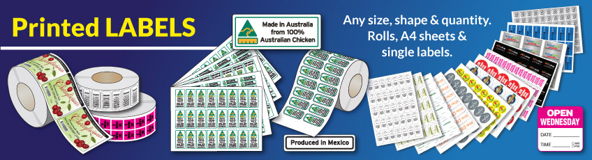 Printed Labels. Any size, shape & quantity.