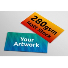 Business Cards - 280gsm Matt Stock - 90mm x 54mm