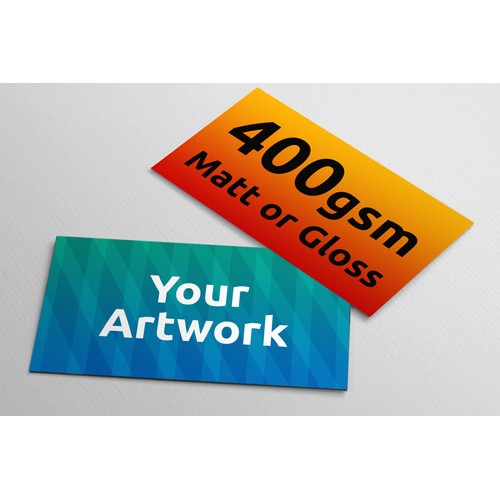 400gsm matt or gloss business cards 90mm x 54mm power2print business cards 400gsm 90mm x 54mm reheart Image collections