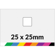 25x25mm Printed Paper or Synthetic Labels