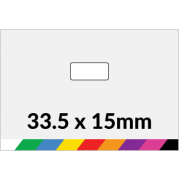 33.5x15mm Printed Paper or Synthetic Labels