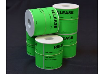 One Colour Labels on Rolls