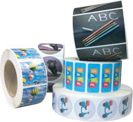 Full Colour Labels on Rolls
