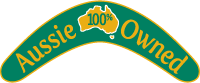 Aussie Owned Logo - Proud to be Australian