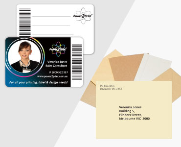 Printed ID cards and custom printed envelopes